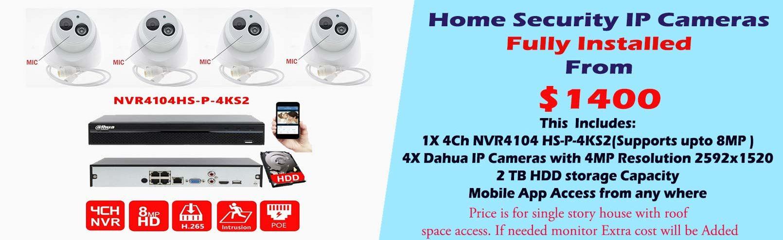 Dahua IP Cameras System